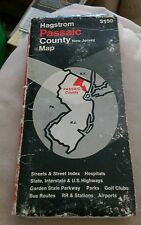 Vintage Hagstrom Passaic County New Jersey Road Map Parkways Airports Parks NJ