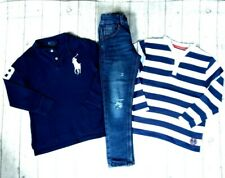 6 7 YEARS RALPH LAUREN POLO SKINNY RIP JEANS TOPS JUMPERS BOYS  CLOTHES BUNDLE