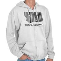 Montana State Made in Montana State Pride T Shirt Gift Ideas Zipper Hoodie