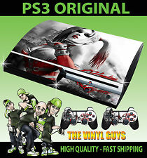 Playstation ps3 original autocollant harley quinn arkham batman peau & 2 pad skins