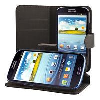 Samsung Galaxy S3 i9300 Coque de protection Housse Pochette wallet Case noir