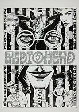 RADIOHEAD - Centrum Worcester (1989) Music Concert Poster Art