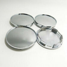 4Pcs/Set Universal 76mm Chrome Silver Car Wheel Center Hub Caps Cover No Logo