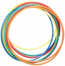 10 X Plain Multicolour Hula Hoop Fitness Exercise Activity Gymnastic Dance kid