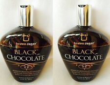 2 Black Chocolate 200X Black Bronzer Tanning bed Lotion Brown Sugar Tan 13.5 oz