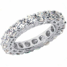 4.80 ct Round Diamond Ring 18k Gold Eternity Band F-G Vs/Si1 Size 5 0.30 ct each