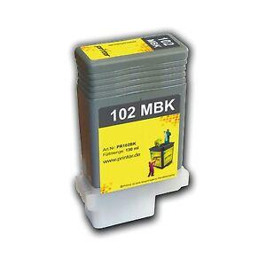PFI-102 MBK 130ml Tintenpatrone hochwertig aufgearbeitet