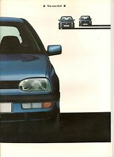 VW GOLF Mk III UK PRE-LAUNCH BROCHURE WITH TECH DATA  ## RARE ##  *POST FREE UK