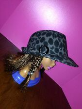 Womens Trench Hat Black And Grey New