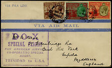 DOX SPECIAL FLIGHT COVER TO MIDDLESEX, ENGLAND BQ3711