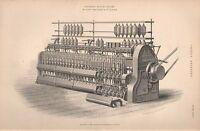 1874 Estampado ~ Acabado Roving Marco Por Platt BROTHER'S & Co Oldham
