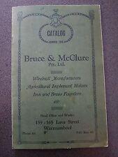 BRUCE & MCCLURE WINDMILLS FARMING WARRNAMBOOL BOOK AUSTRALIA
