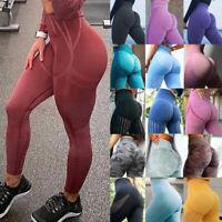 Women's Seamless High Waist Yoga Pants Gym Leggings Tummy Control Sport Training
