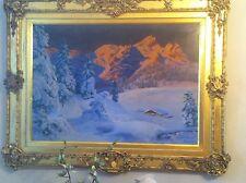 Finest Detail Alois Arnegger Original Oil Painting, Austria UNIQUE FRAME