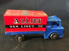 """Old Vtg Pressed Steel Allied Van Lines, Inc. Toy Truck 6.5"""" x 2.25"""" x 3"""""""