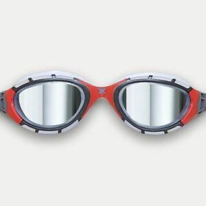 Zoggs Swimming Goggles - Predator Flex Titanium S/M -  Gun Metal/Clear/Red