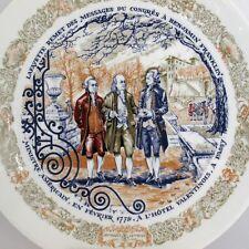 Limoges Lafayette Legacy Benjamin Franklin Porcelain Collector Plate 1974