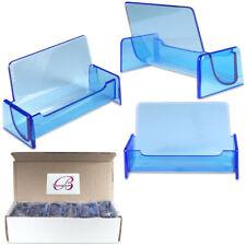12PCS Azul Claro Acrílico para tarjetas de negocios Display Stand Desktop encimera
