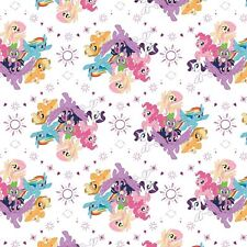 My Little Pony Fabric - Ponies - White - 100% Cotton