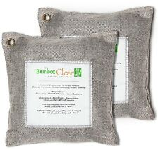 Natural Air Purifier Bags | Bamboo Charcoal Deodorizer Bags, Silver~2 x 500g