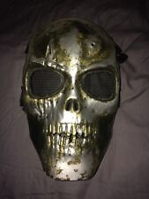 Army Of Two inspired Mask hand painted art airsoft paintball war black