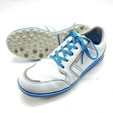 ASHWORTH Cardiff ADC White Leather Waterproof Spikeless Golf Shoes Men's 11.5