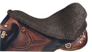 Saddle Seat Saver Fleecy Stock Saddle Horse Riding [Black]