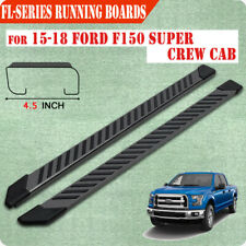 "For 2015-2020 FORD F150 Super Crew Cab 4.5"" Running Board Side Step Nerf Bar FL"