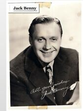Jack Benny, Famous Comedian and actor. Printed Signature   (