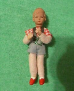 Vintage German CaCo Dollhouse Doll - Vintage CaCo Small Boy Doll