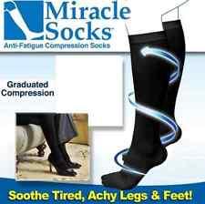 Miracle Socks  Unise Anti-Fatigue Dvt Compression Travel Flight Sock (Pair)