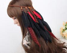 Indian Feather Headband Festival Hairband Boho Vintage Feather headband