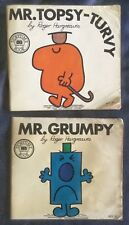 2 MR MEN small Paperback books  - Mr TOPSY-TURVY & Mr GRUMPY - Roger Hargreaves