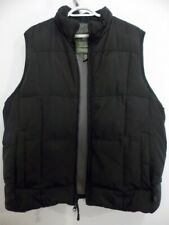 """Eddie Bauer """"DOWN"""" Quilted Down Pockets Vest Men's Size L/G Black - Grey Lining"""