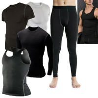 Mens Compression Tights Athletic Base Layers Spandex Sports Vest Pants Quick-dry