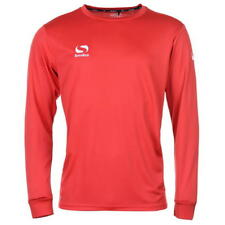 Sondico Men's Classic Lyon 2 Football Jersey Shirt Long Sleeve Top Red UK Small