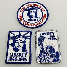 Vintage patch Lot (3) Lady Liberty Centennial