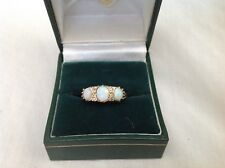 Antique 18ct Opal And Diamond Ladies Ring No Reserve