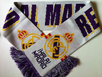 REAL MADRID Football Scarves New White from Superior Acrylic Yarns