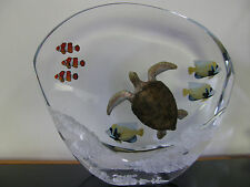 "Robert Wyland-""Sea Turtle Reef"" Limited Artists Proof of 100 Lucite Sculpture!"