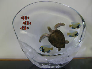 """Robert Wyland-""""Sea Turtle Reef"""" Limited Artists Proof of 100 Lucite Sculpture!"""