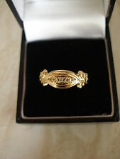 9 CARAT VICTORIAN STYLE DIAMOND 5 STONE RING MADE IN ENGLAND BRAND NEW & BOX