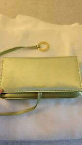 Bvlgari Parfums Makeup Cosmectic Pouch Case Green Jade Clutch Bag Evening Purse