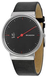 Skagen SKW6236 Ancher Black Dial black Leather Strap Men's Watch