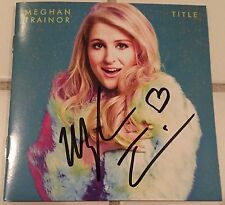 AUTOGRAPHED MEGHAN TRAINOR TITLE CD BOOKLET SIGNED GRAMMY WINNER