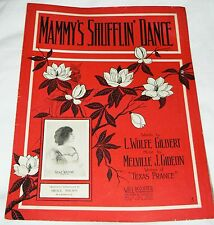 Mammy's Shufflin' Dance - 1911 Gilbert/Gideon - Grace Wilson photo, piano/voice