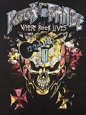 Rock On The Range 2013 Columbus  Small Black T-Shirt Concert Cheap Trick Korn