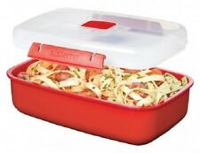 New listing Sistema 1.25L Lunch Box Hot Food Container Rectangular Microwavable Storage Red
