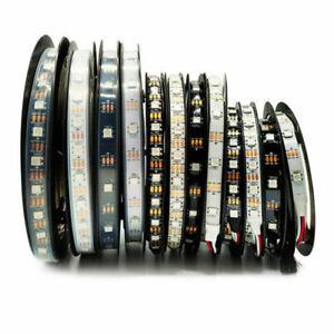 5V WS2812B 5050 RGB LED Strip 1-5m 30 60 144 150 300 Led Individual Addressable