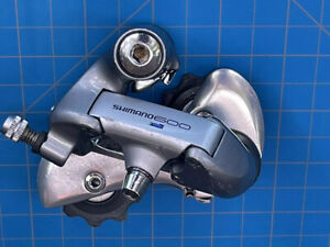 Shimano 600 Ultegra Rear Derailleur 7 Speed Index SIS Vintage Road Bike RD-6400